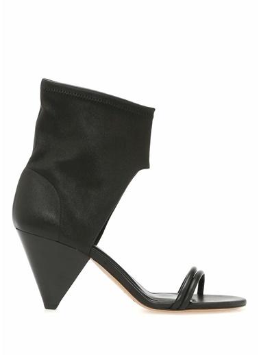 Etoile İsabel Marant %100 Deri Sandalet Siyah